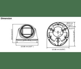 HiLook THC-T323-Z 2MP TVI Low Light Turret 2.8-12mm MFZ