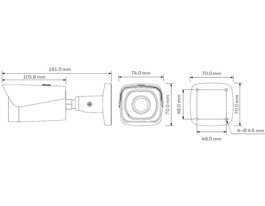 Honeywell HBW4PR1 4MP IR Bullet camera 3.6mm
