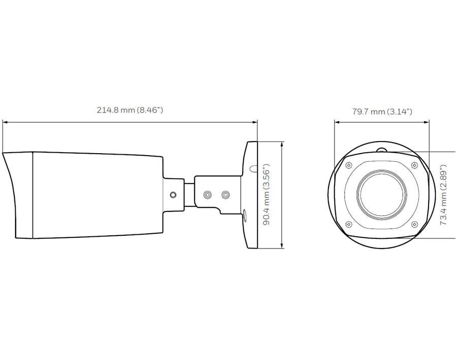 Honeywell HBW2PR2 2MP IR Bullet camera 2.7-12mm MFZ