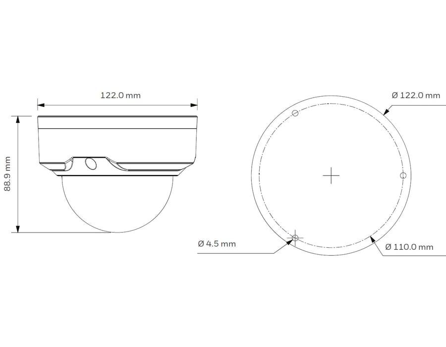 Honeywell HD41XD2 2MP IR Dome Camera 2.7-13.5mm VF