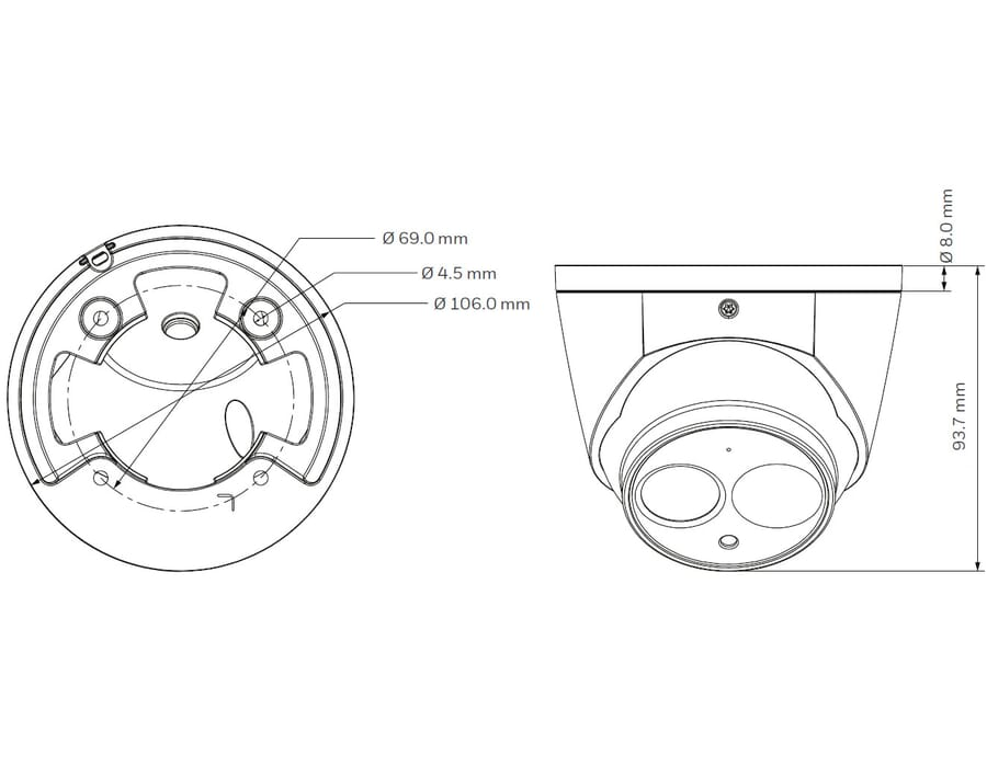Honeywell HD30HD4 4MP IR Turret Camera 3.6mm