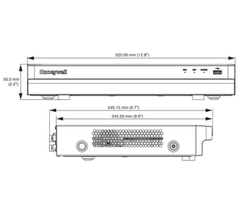 Honeywell HRHT4040 4 Channel 4MP DVR