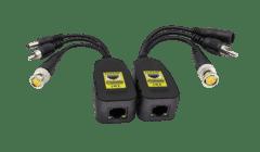 5MP HD Power and Video Balun RJ45-BNC+DC+RCA (Surge Protection)
