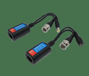 4K HD Power and Video Balun RJ45-BNC+DC