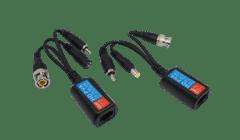 4K HD Power and Video Balun RJ45-BNC+DC+RCA