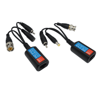 4K HD Power and Video Balun RJ45-BNC+DC+RCA