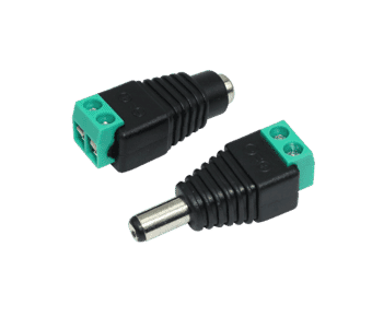 2.1mm DC Barrel Connector with Screw Terminals (10pc)