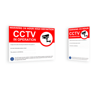Outdoor CCTV Warning Signs GDPR / DPA Compliant