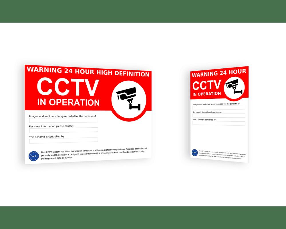 Outdoor CCTV Warning Signs GDPR / DPA Compliant