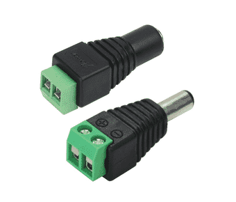 2.1mm Screw Terminal DC Power Plug 10 Pack