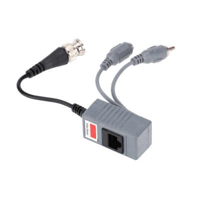 HD Power, Video and Audio Balun RJ45 to BNC, RCA and DC