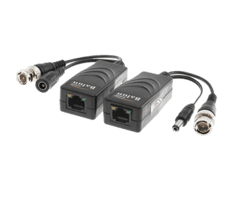 HD Power and Video Pigtail Balun RJ45 to BNC and DC
