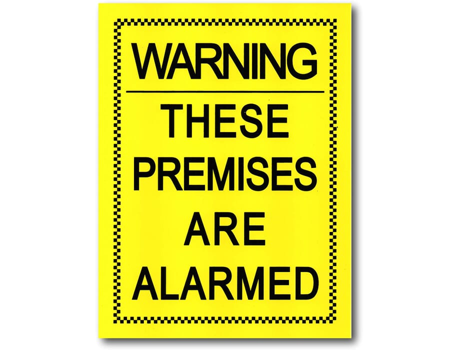 Weatherproof Alarm Warning Sticker