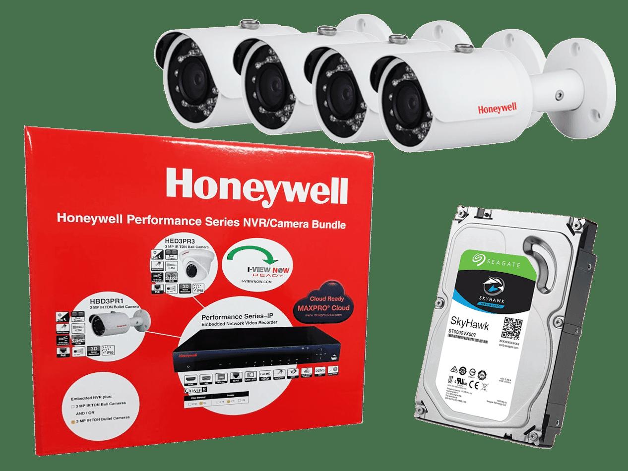 Honeywell HEN04112BB 4x 3MP Bullet Camera with 1TB