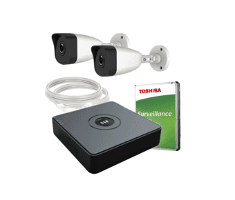 HiWatch by Hikvision 2 Camera HD PoE IP CCTV Kit 500GB