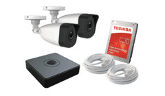HiWatch 2 x Camera 2MP HD IP PoE CCTV Kit 500GB 4ch NVR