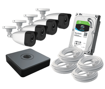 HiWatch 4 x Camera 2MP HD IP PoE CCTV Kit 1TB 8ch NVR