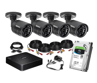 Trendnet 4 x Outdoor IR Camera 1TB HD TVI Home CCTV Kit