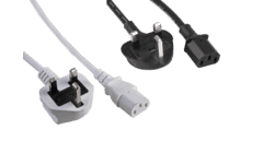 C13 IEC Kettle Lead Power Cable UK Plug