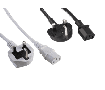 C13 IEC Kettle Lead Power Cable UK Plug