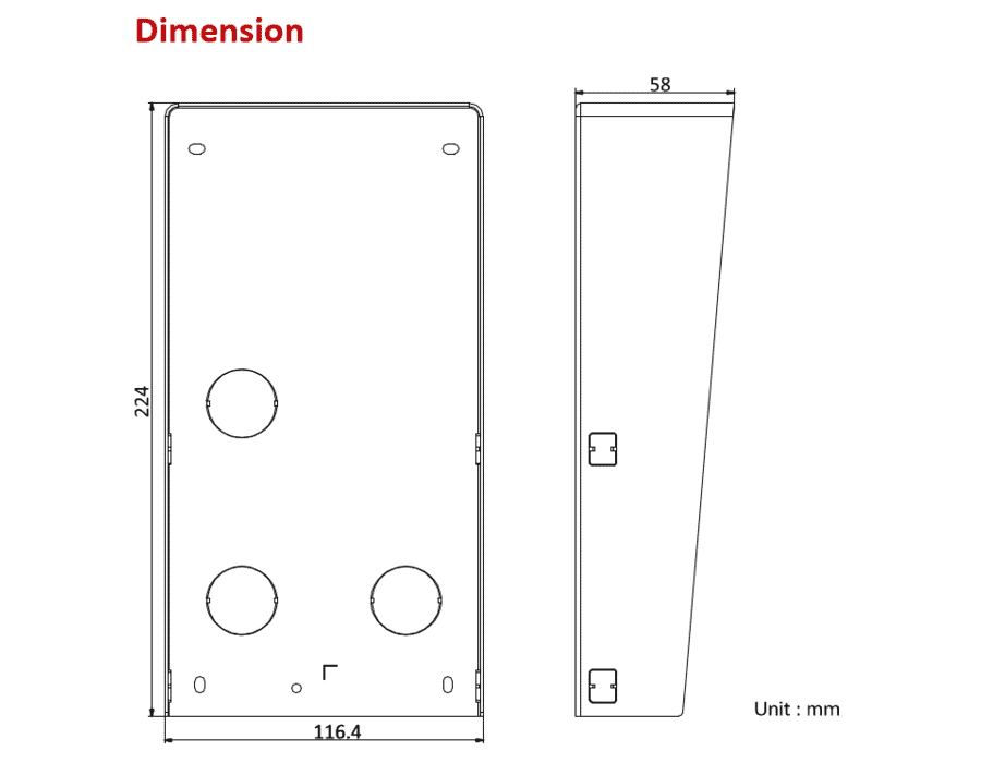 Hikvision DS-KABD8003-RS Module Intercom Rain Shield