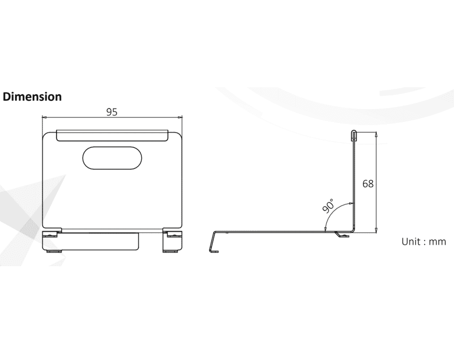 Hikvision DS-KABH8350-T Intercom Screen Desk Stand