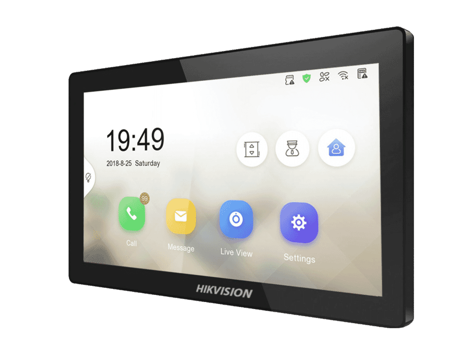 """Hikvision DS-KH8520-WTE1 10"""" Intercom WiFi Touch Monitor"""