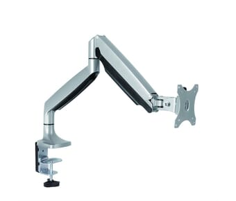 Desk mount precision adjustable monitor bracket