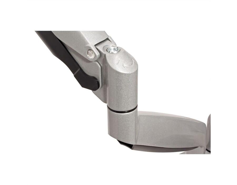Desk mount fully adjustable dual monitor bracket