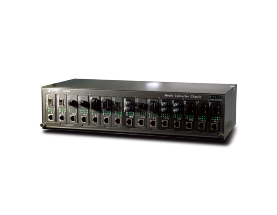 "Planet MC1500 15 slot 19"" Media Converter Chassis"