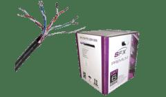Cat 6 FTP LSZH Shielded Data Cable Purple 305m