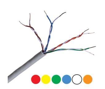 Cat5e UTP LSZH Coloured Network Cable 305m Boxes
