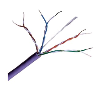 Cat 5e UTP LSZH Purple Solid Network Cable 305m