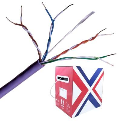 Cat 5e UTP LSZH Purple Solid Network Cable 305m