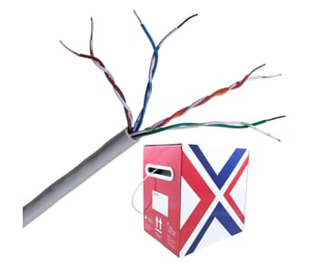 Connectix Cat 5e UTP PVC Grey Solid Cable 305m box