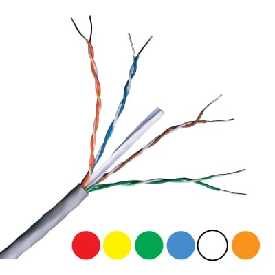 Cat6 UTP LSZH Colour Range 305m Boxes