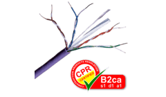 Cat 6 UTP LSZH B2ca Purple Solid Network Cable 305m