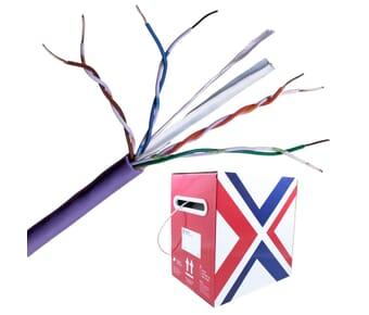 Cat 6 UTP LSZH Purple Solid Network Cable 305m