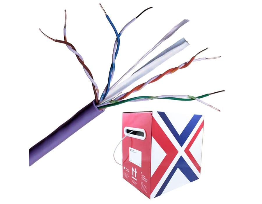 Cat 6 UTP LSZH Eca Purple Solid Network Cable 305m