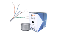 Cat 6 UTP PVC Grey Solid Network Cable
