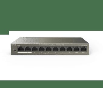 Tenda TEF1110P-8-63W 8 Port 10/100 PoE Switch with Dual Uplink
