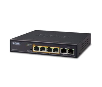 Planet FSD-604HP 6 Port 10/100 Ethernet POE switch