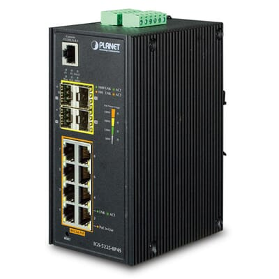 Planet IGS-5225-8P4S Industrial Ethernet Switch