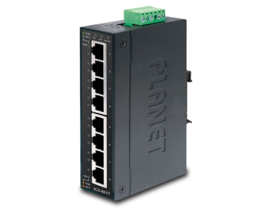 Planet IGS-801T Industrial 8 Port Gigabit Switch