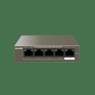 Tenda TEG1105P 4+1 Port Gigabit 802.3af/at 63W PoE Switch