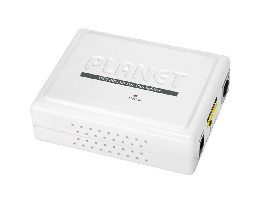 Planet POE-161S Gigabit 802.3af/at 5/12 VDC PoE Splitter