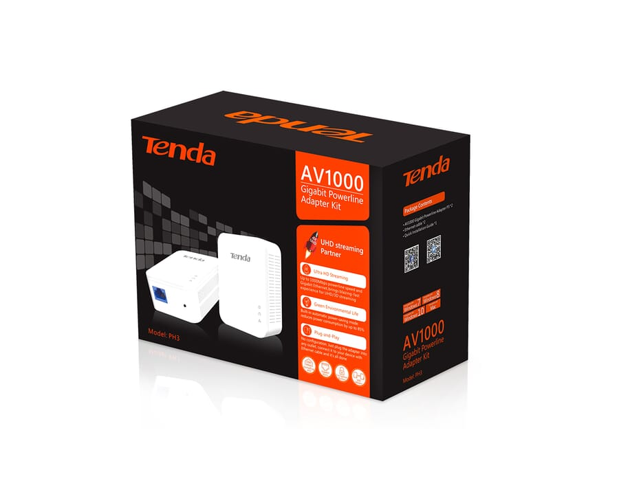 Tenda PH3 1000Mbit/s LAN PowerLine Kit