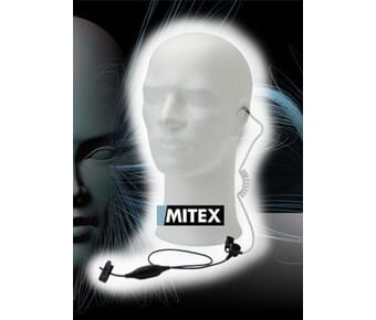 Mitex 1 Wire Acoustic Tube Kit with Mic and PTT