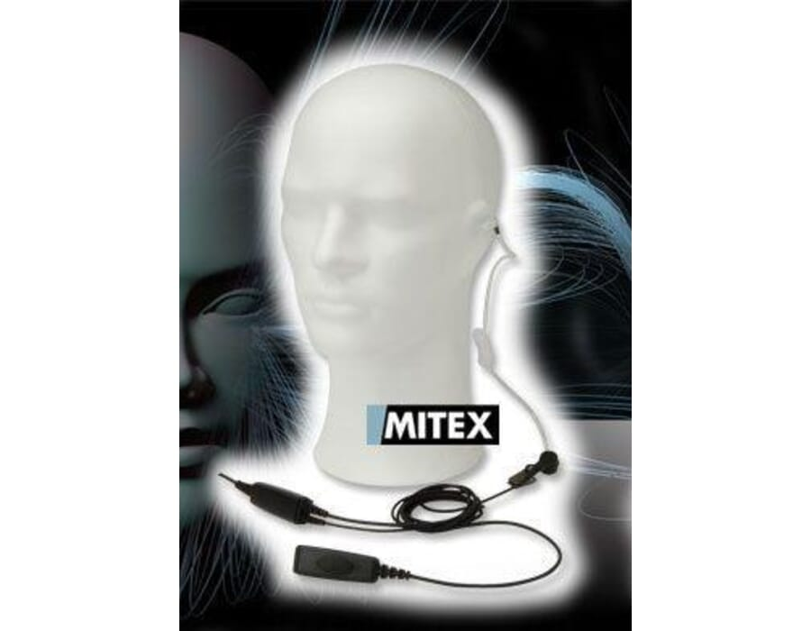 Mitex 2 Wire Acoustic Tube Kit with Mic and PTT