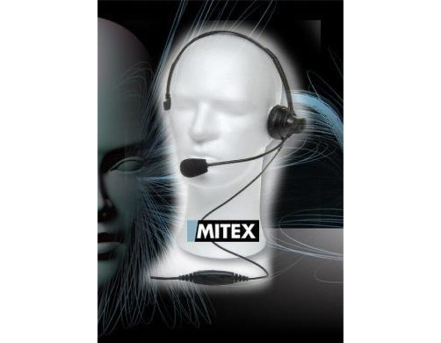 Mitex Overhead Boom Mic Headset with PTT